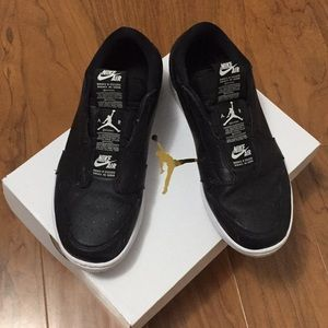Nike Air Jordan 1 Black Low Slip-ons